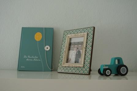 Schrankdekoration mit Hochzeitsbild