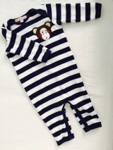olive and moss strampler affe monkey baby