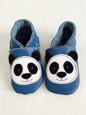 blue pantoffel babyschuh panda